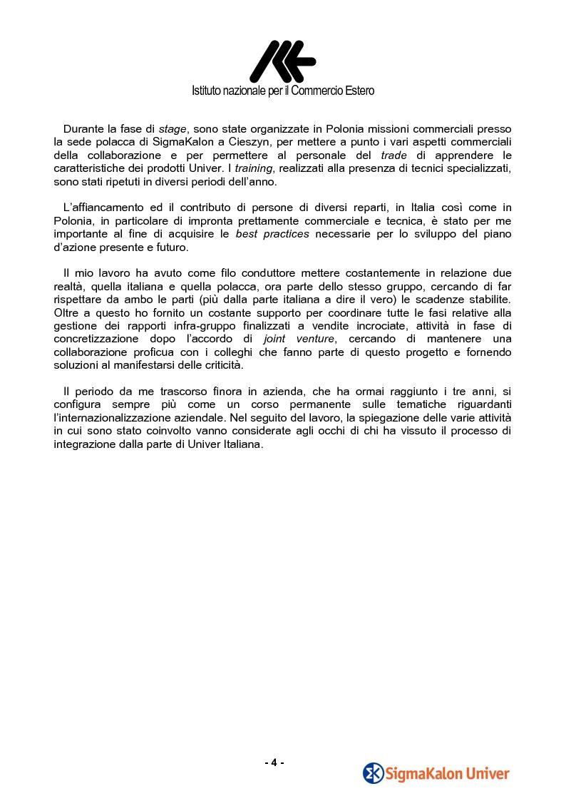 Anteprima della tesi: Le attività infragruppo e le vendite della linea Industria di SigmaKalon Univer in Polonia, Pagina 2