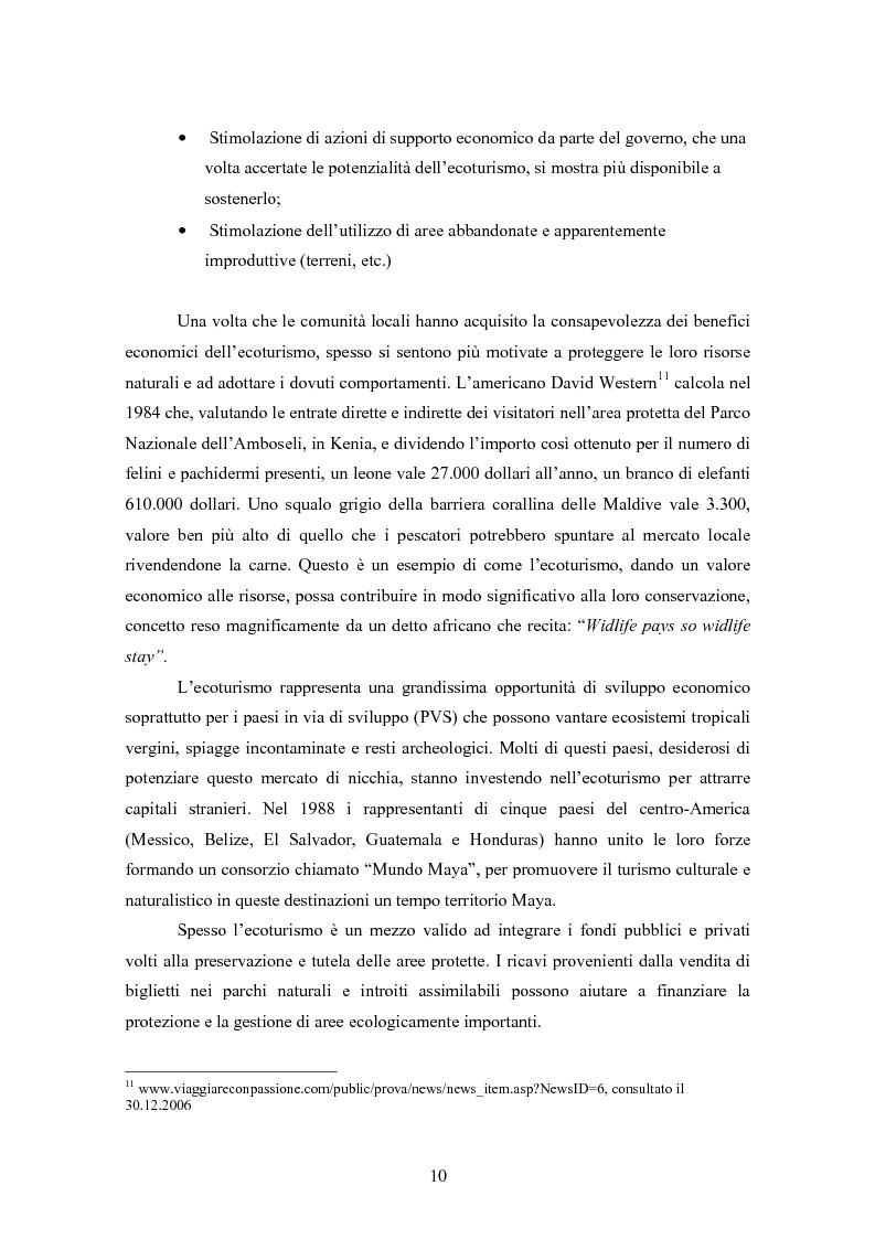 Anteprima della tesi: Ecoturismo e accordi volontari, Pagina 10