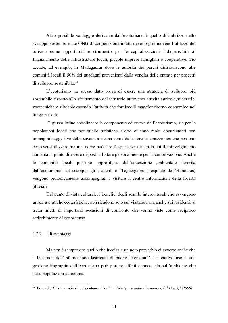 Anteprima della tesi: Ecoturismo e accordi volontari, Pagina 11