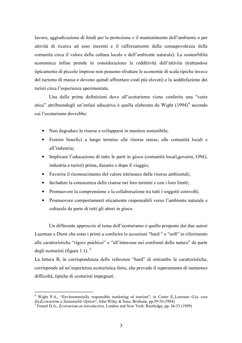 Anteprima della tesi: Ecoturismo e accordi volontari, Pagina 3