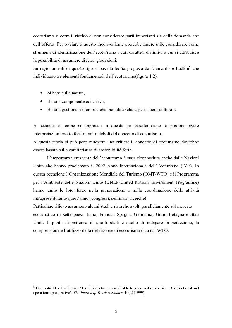 Anteprima della tesi: Ecoturismo e accordi volontari, Pagina 5