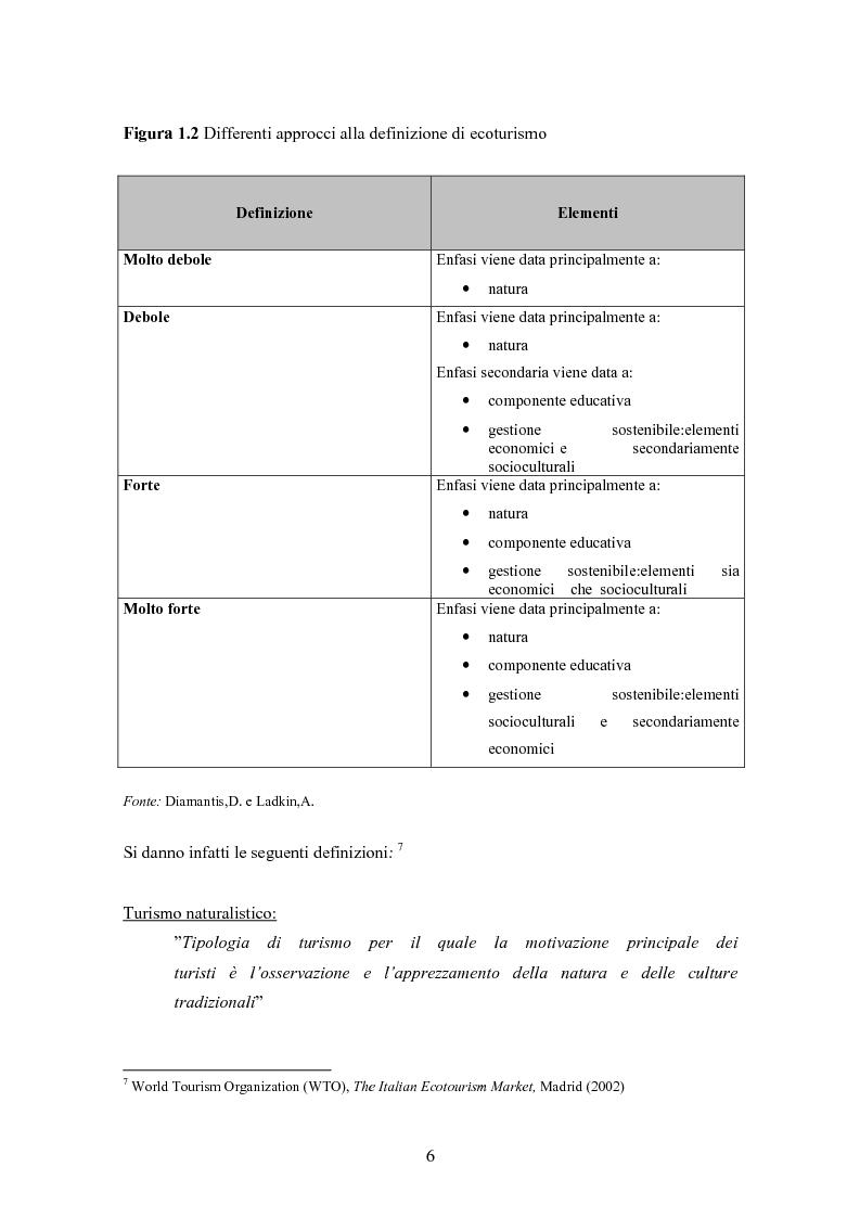 Anteprima della tesi: Ecoturismo e accordi volontari, Pagina 6