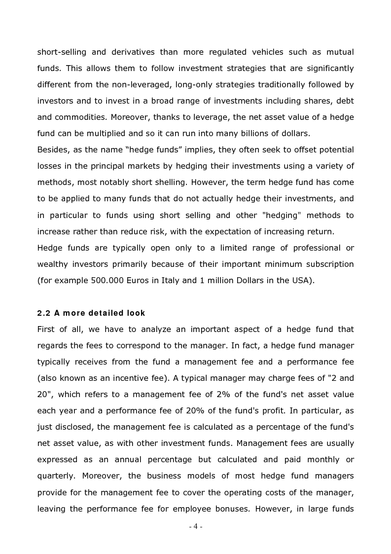 Anteprima della tesi: A Comparison Between Different Hedge Fund Strategies in the Recent Financial Crisis, Pagina 2