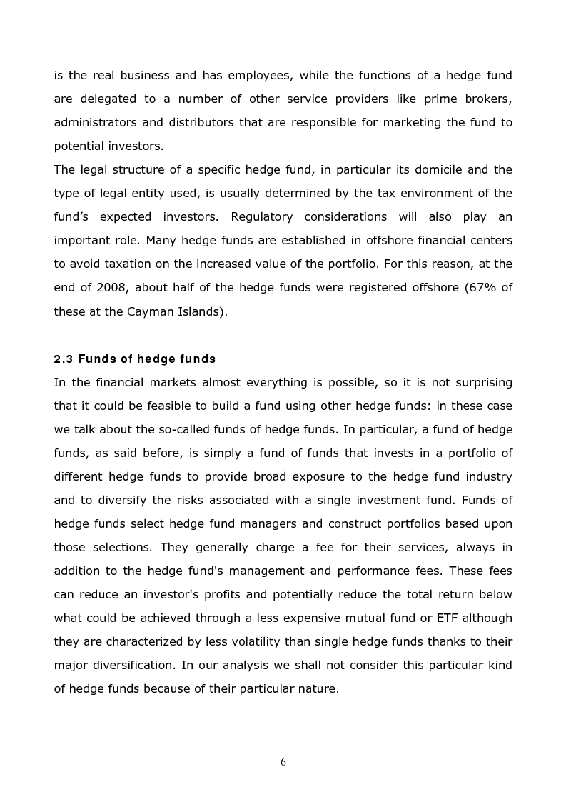 Anteprima della tesi: A Comparison Between Different Hedge Fund Strategies in the Recent Financial Crisis, Pagina 4