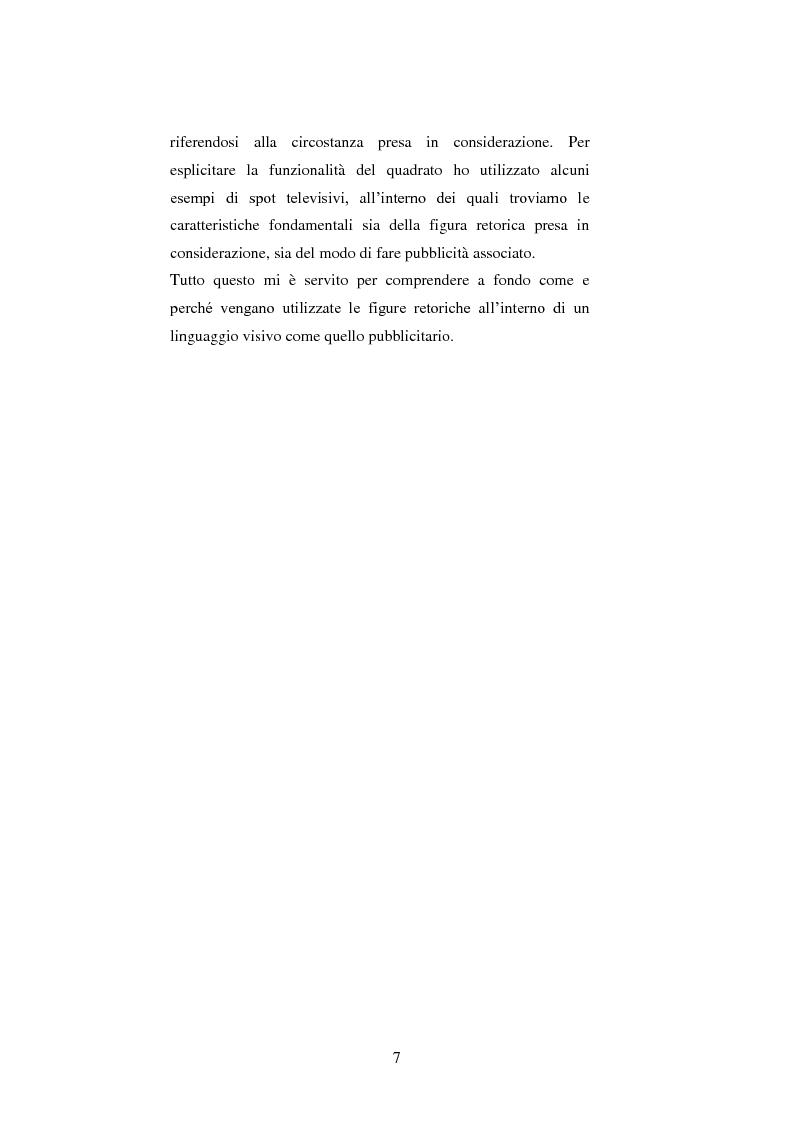 Anteprima della tesi: Le figure retoriche in pubblicità. Teoria e applicazione al quadrato semiotico di Floch., Pagina 3