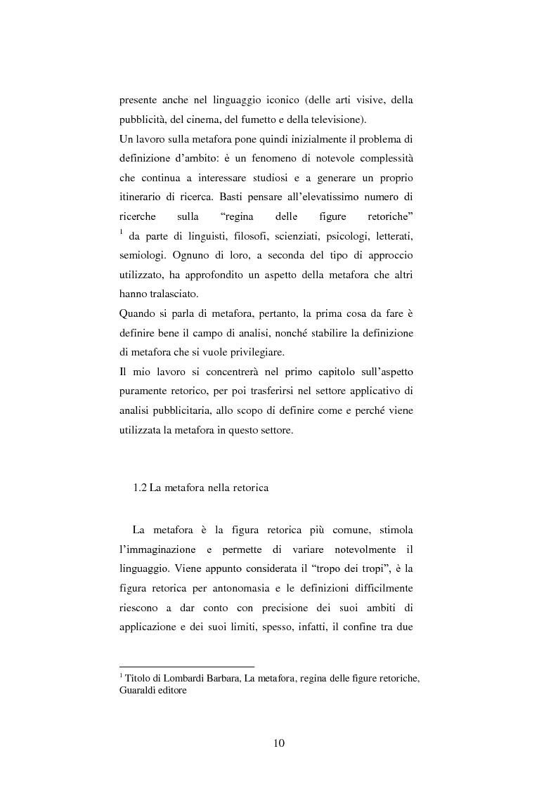 Anteprima della tesi: Le figure retoriche in pubblicità. Teoria e applicazione al quadrato semiotico di Floch., Pagina 6