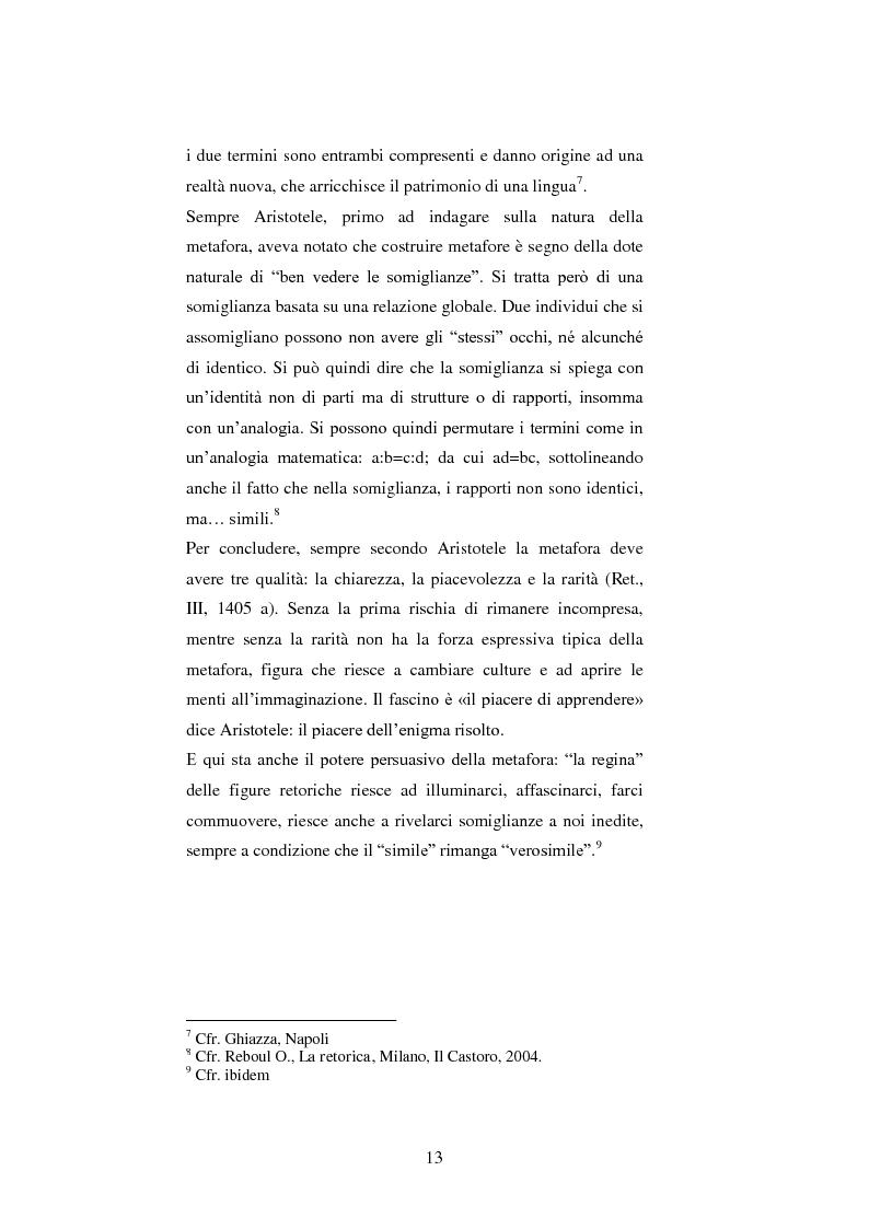Anteprima della tesi: Le figure retoriche in pubblicità. Teoria e applicazione al quadrato semiotico di Floch., Pagina 9