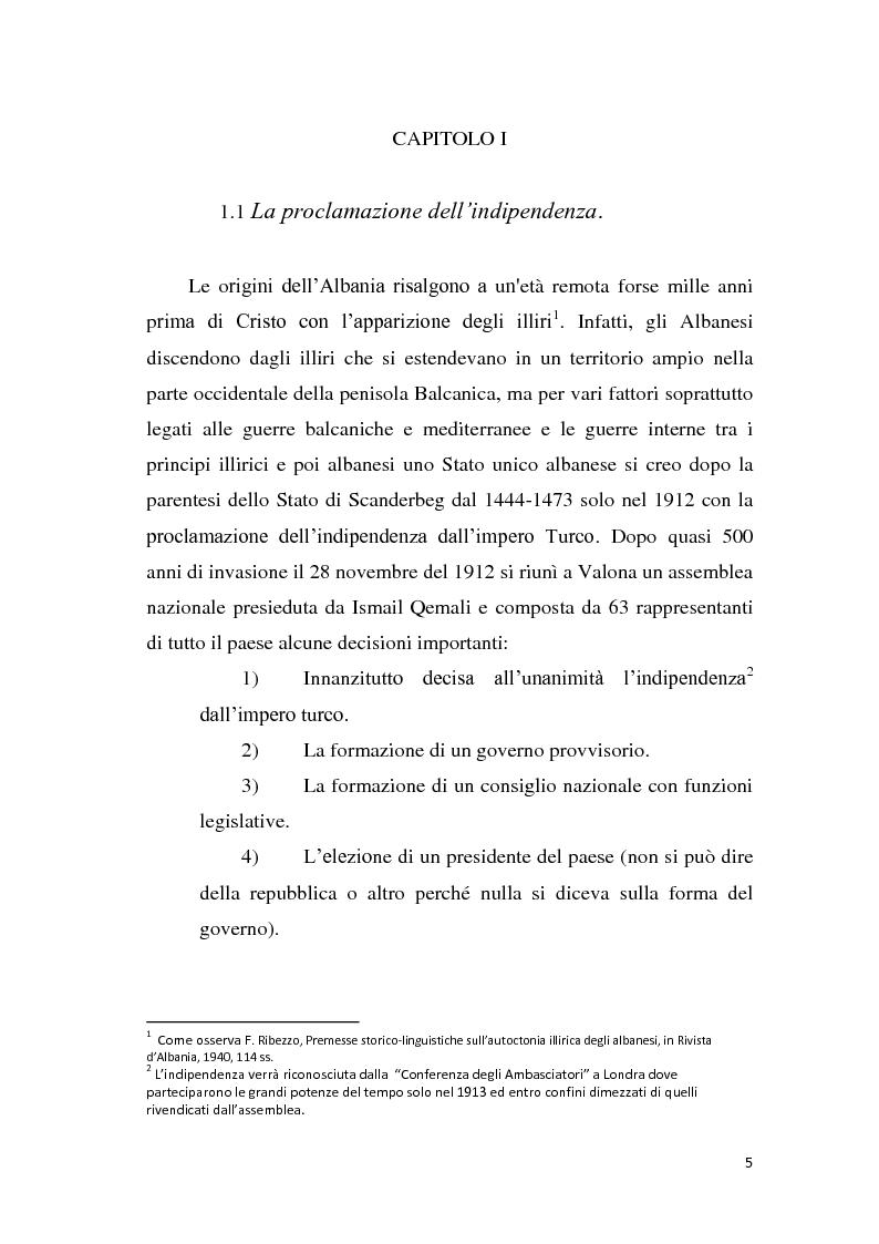 Anteprima della tesi: La tutela dei diritti fondamentali nel costituzionalismo albanese, Pagina 1