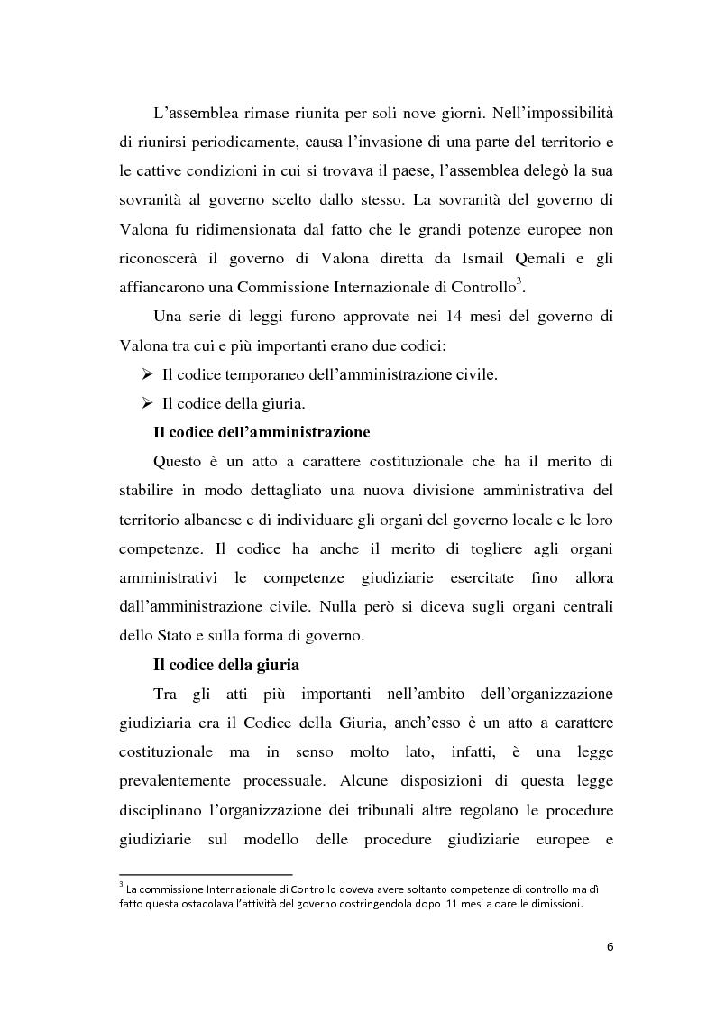 Anteprima della tesi: La tutela dei diritti fondamentali nel costituzionalismo albanese, Pagina 2
