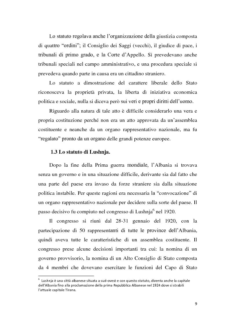 Anteprima della tesi: La tutela dei diritti fondamentali nel costituzionalismo albanese, Pagina 5