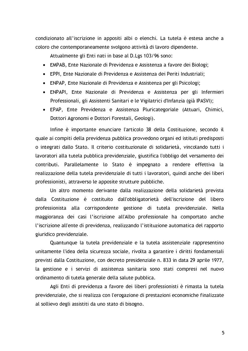 Anteprima della tesi: La cassa di previdenza dei dottori commercialisti: il bilancio tecnico attuariale, la riforma del sistema pensionistico., Pagina 3
