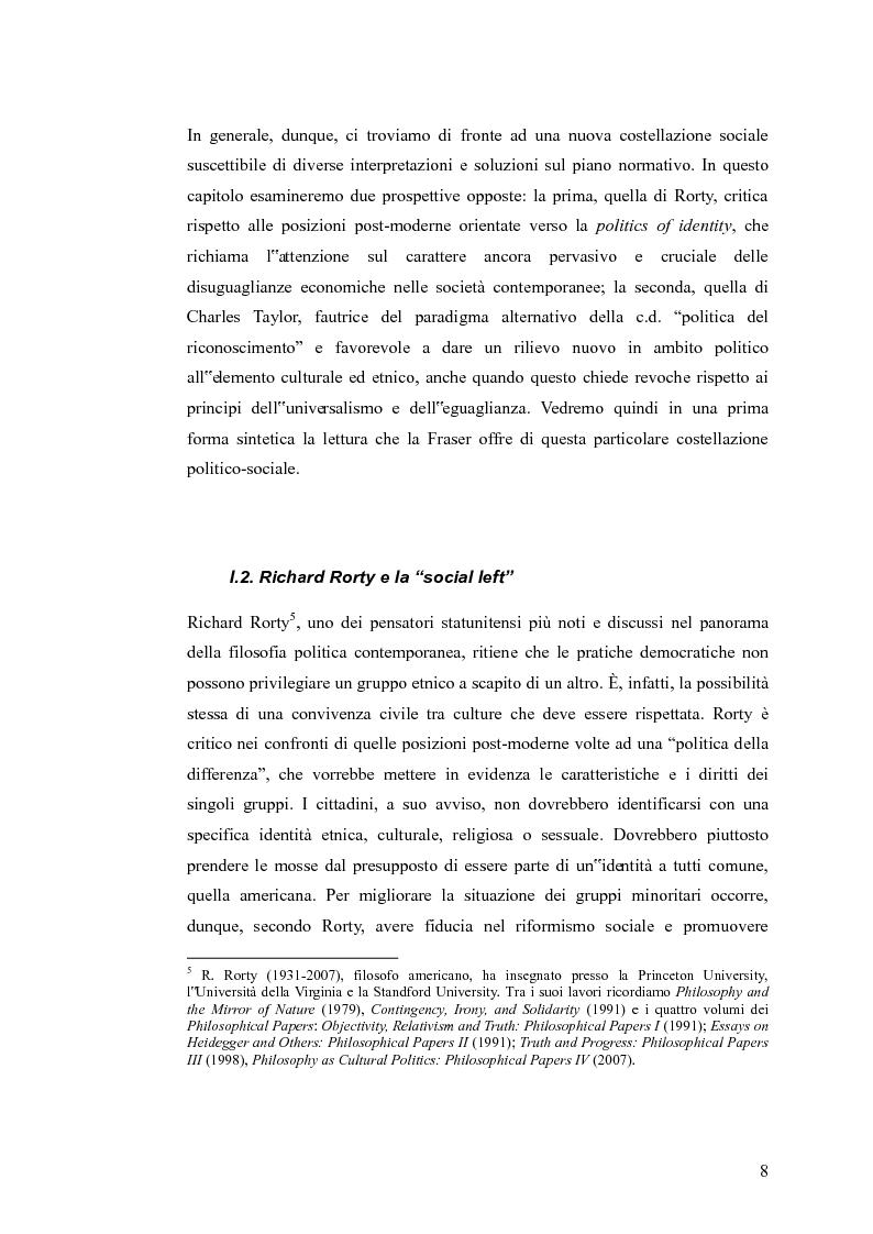 Anteprima della tesi: Redistribuzione e riconoscimento in Nancy Fraser, Pagina 3