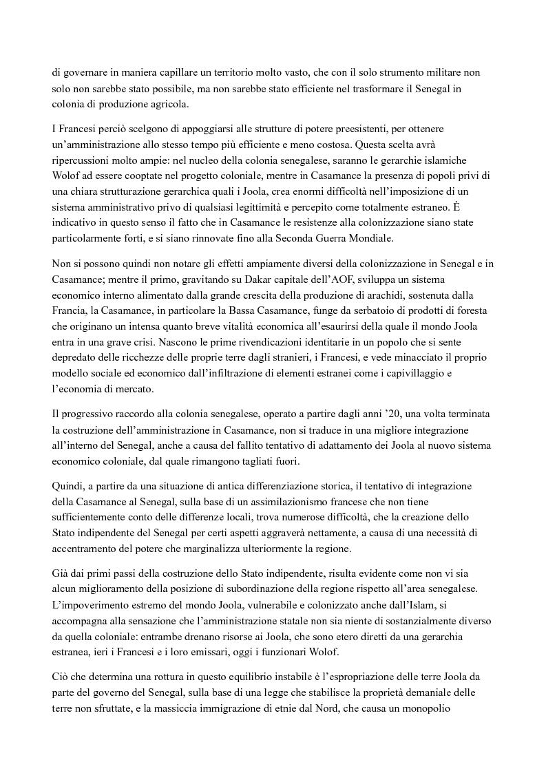 Anteprima della tesi: Casamance: le radici del conflitto, Pagina 2