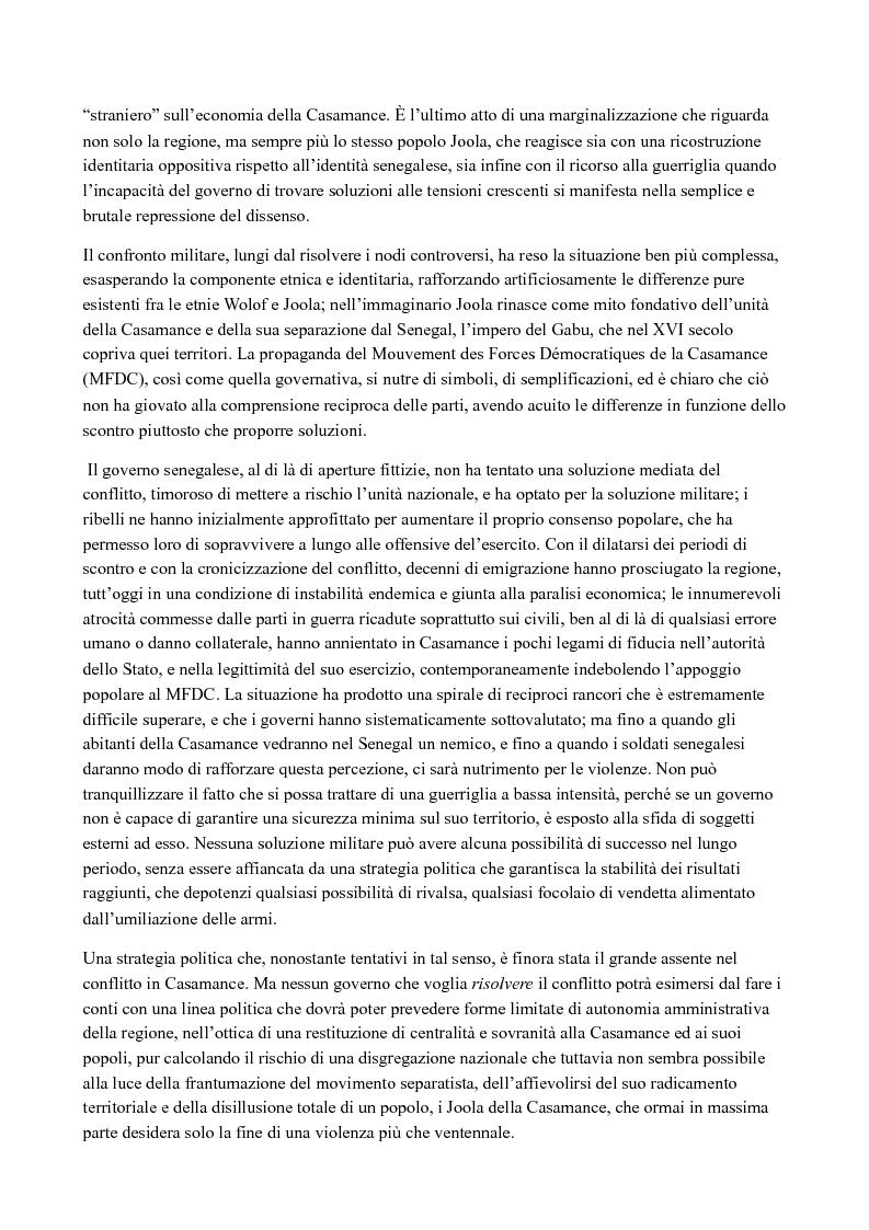 Anteprima della tesi: Casamance: le radici del conflitto, Pagina 3