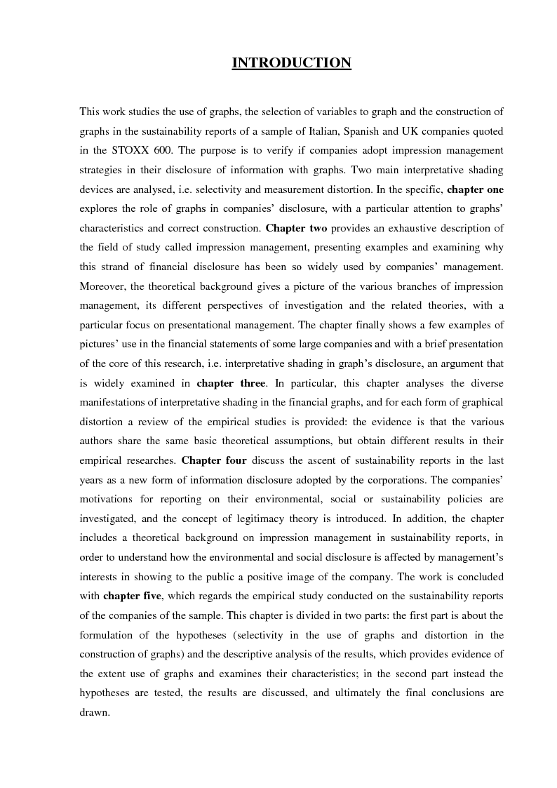 Anteprima della tesi: Selectivity and Measurement Distortion of Graphs in Sustainability Reports: A Comparative Study, Pagina 2