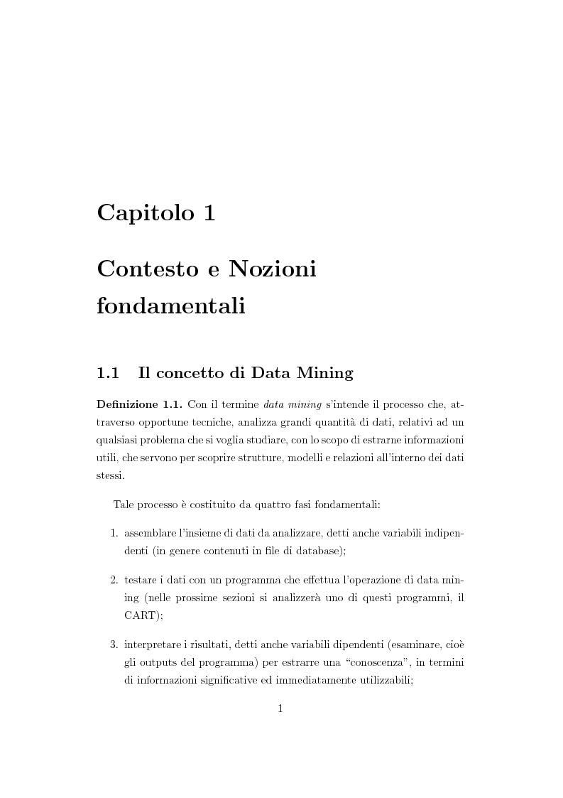 Anteprima della tesi: Alberi di regressione e classificazione, Pagina 2