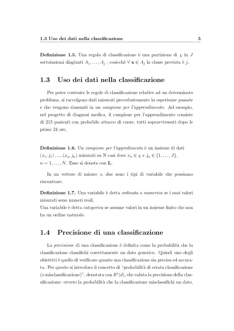Anteprima della tesi: Alberi di regressione e classificazione, Pagina 6