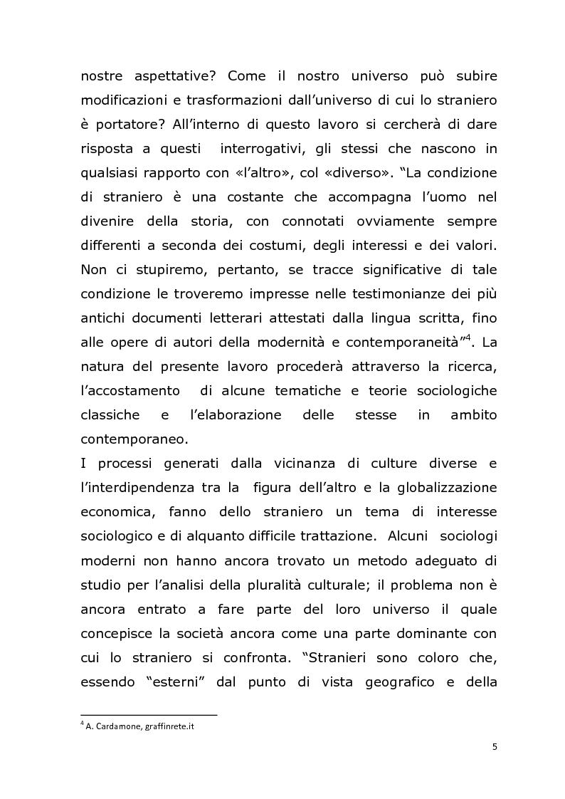 Anteprima della tesi: La relazione con l' ''altro'' nella società postmoderna. Per un'analisi della figura dello straniero., Pagina 2