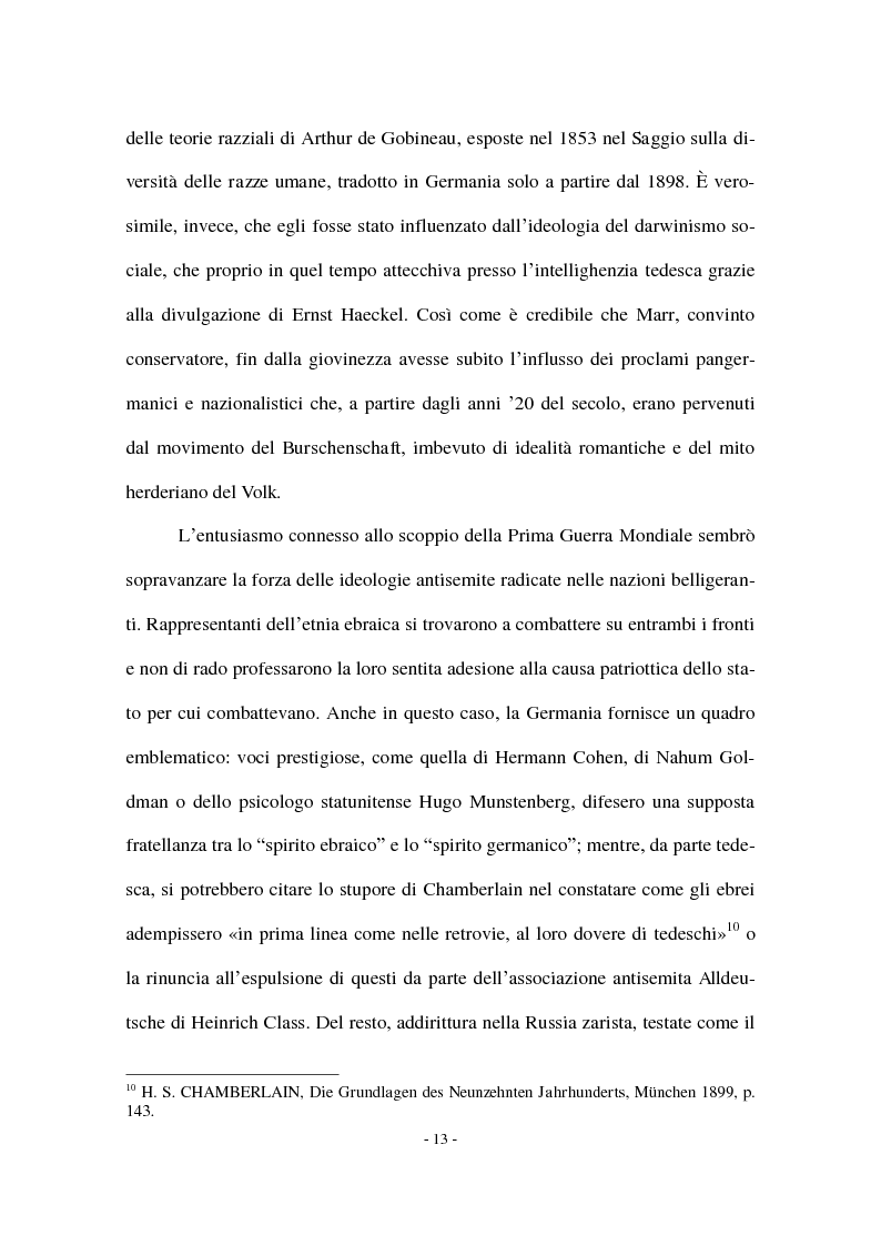 Anteprima della tesi: I Protocolli dei Savi anziani di Sion: storia di un falso antisemita nell'Europa del Novecento, Pagina 11