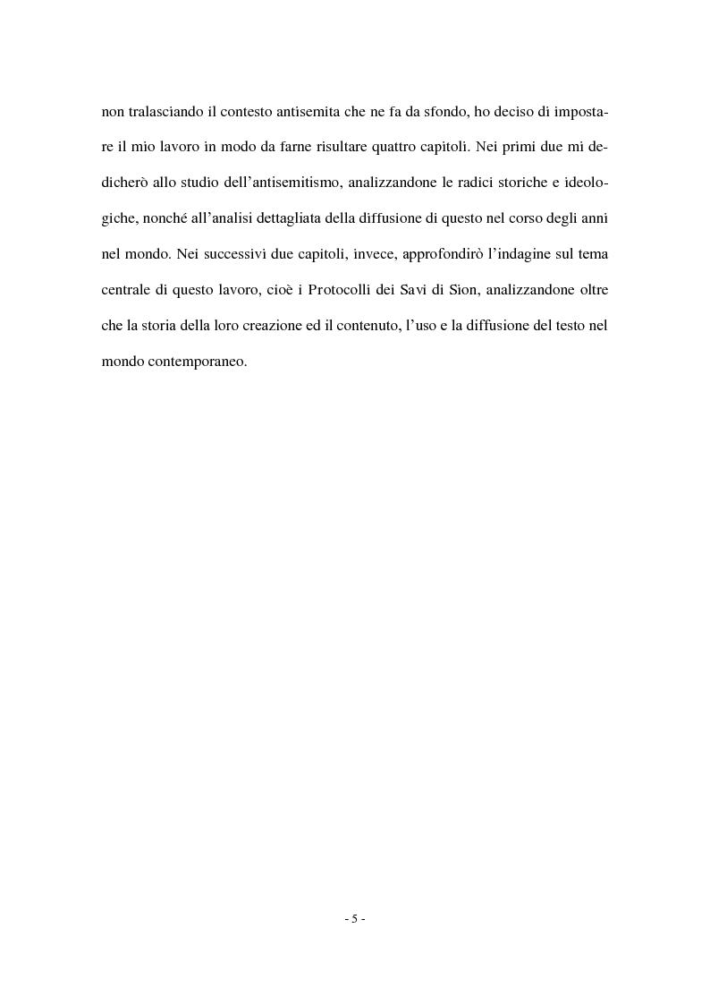 Anteprima della tesi: I Protocolli dei Savi anziani di Sion: storia di un falso antisemita nell'Europa del Novecento, Pagina 3