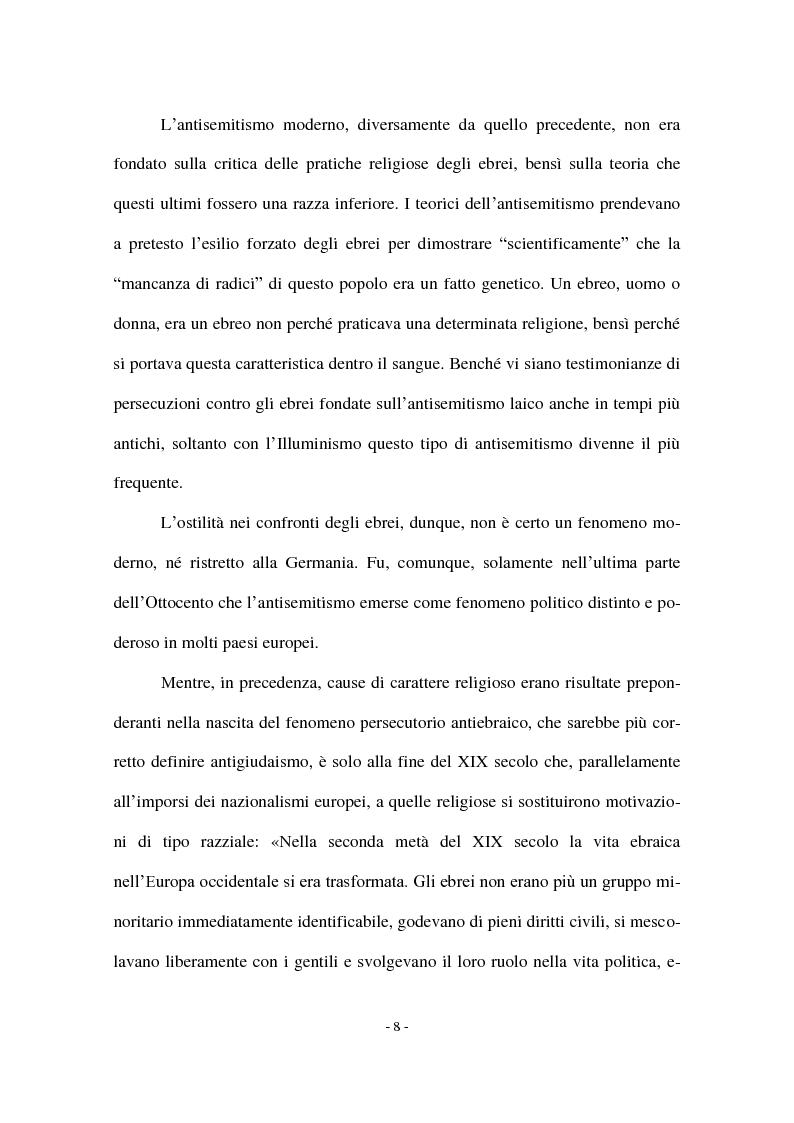 Anteprima della tesi: I Protocolli dei Savi anziani di Sion: storia di un falso antisemita nell'Europa del Novecento, Pagina 6