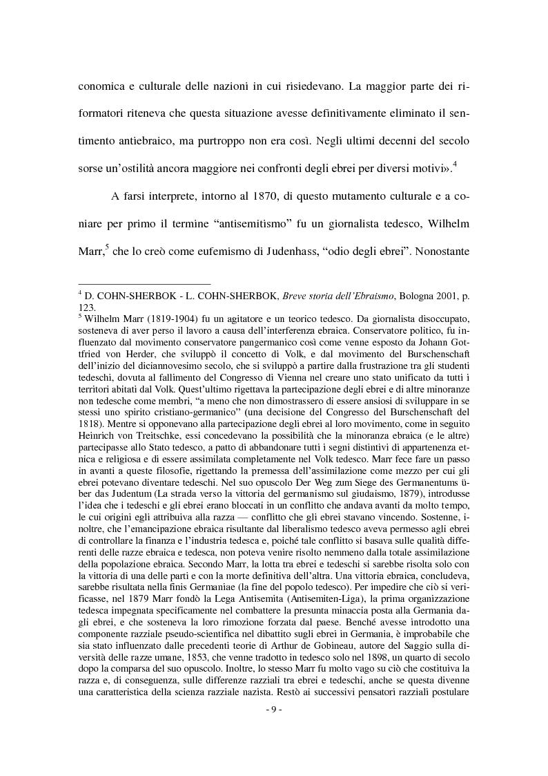 Anteprima della tesi: I Protocolli dei Savi anziani di Sion: storia di un falso antisemita nell'Europa del Novecento, Pagina 7