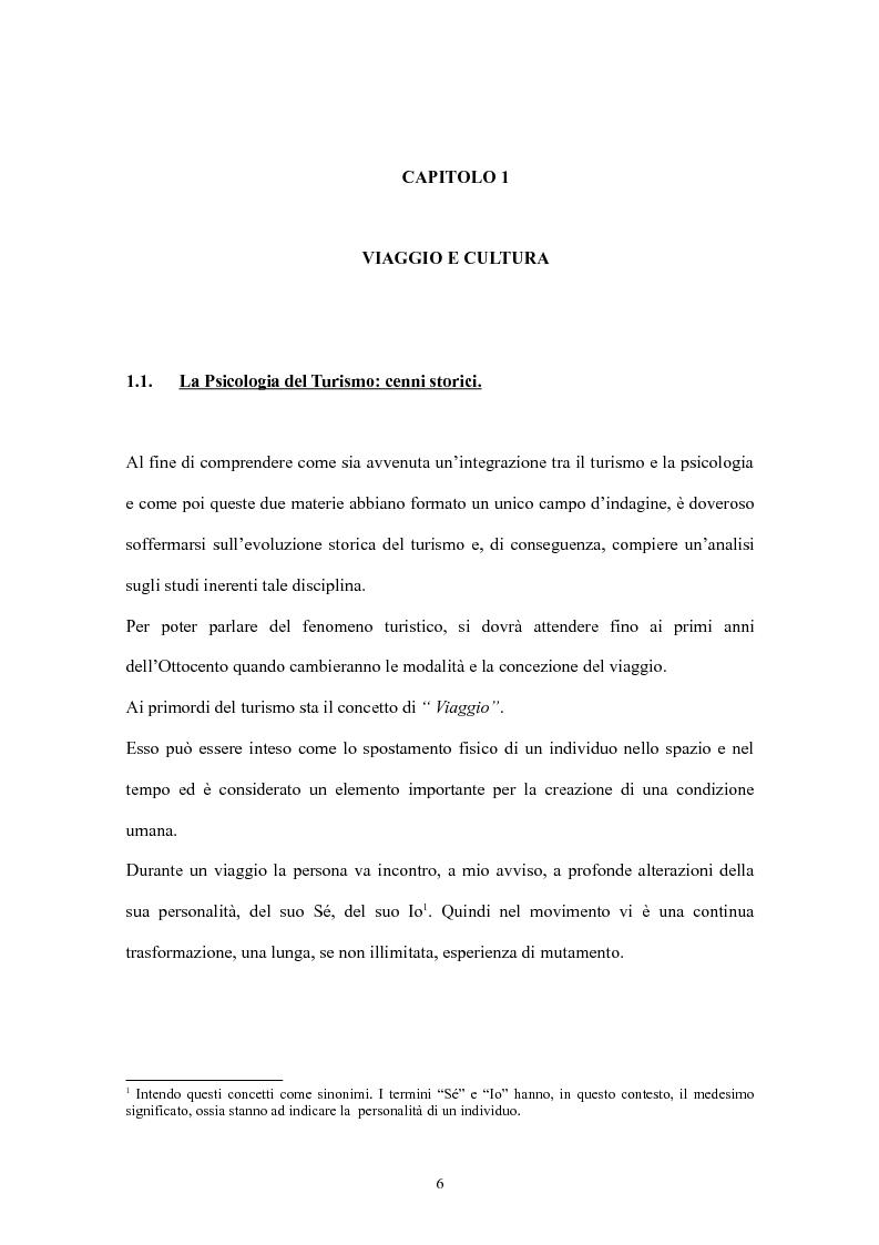 Anteprima della tesi: Psicologia del turismo: il rapporto tra turisti e residenti. Il caso Sardegna., Pagina 4