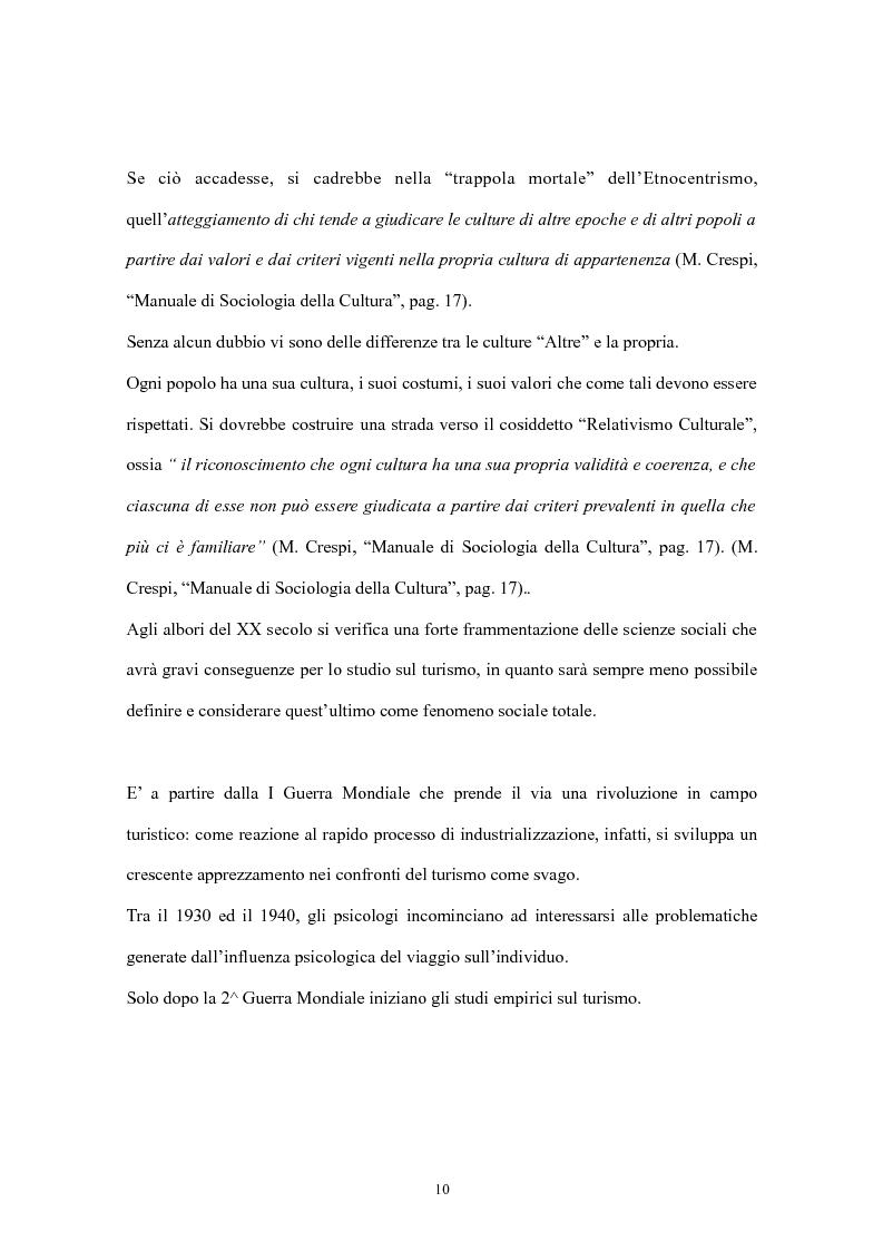 Anteprima della tesi: Psicologia del turismo: il rapporto tra turisti e residenti. Il caso Sardegna., Pagina 8
