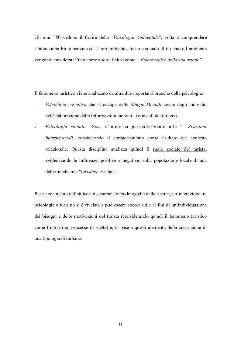 Anteprima della tesi: Psicologia del turismo: il rapporto tra turisti e residenti. Il caso Sardegna., Pagina 9