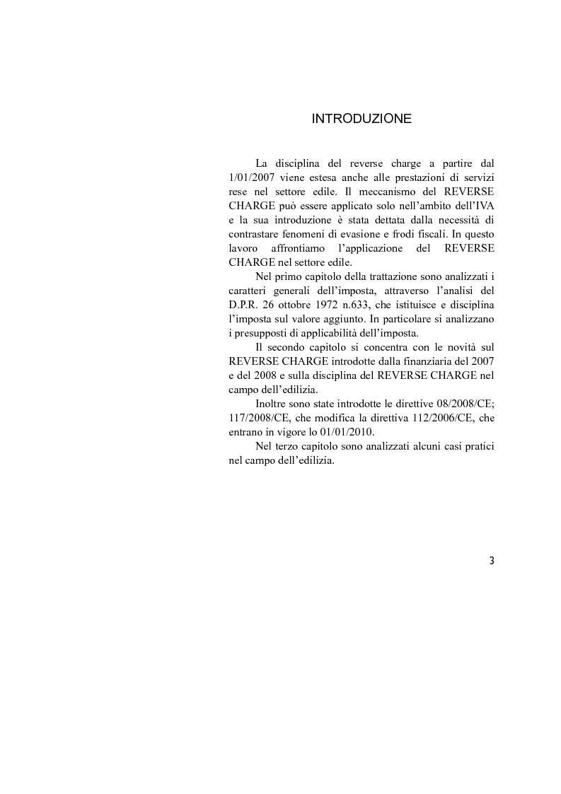 Anteprima della tesi: La disciplina IVA del Reverse Charge, Pagina 1