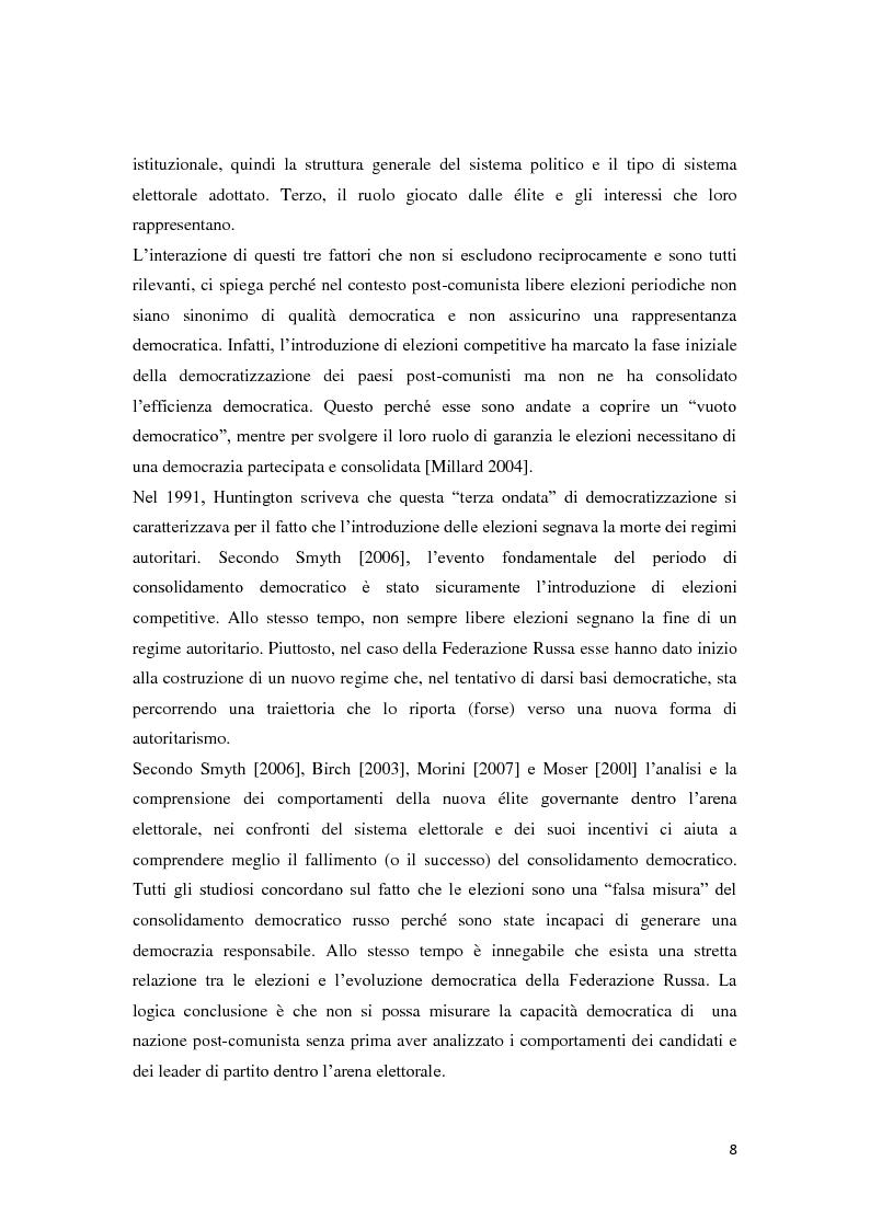 Anteprima della tesi: Verso la democrazia o ritorno all'autoritarismo? La transizione di regime in Russia (1991-2009), Pagina 4