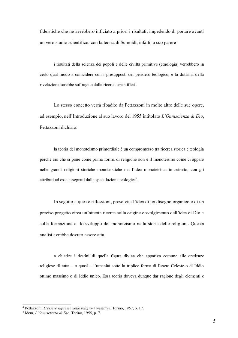 Anteprima della tesi: Raffaele Pettazzoni e la formazione del monoteismo. Analisi dei residui teologici presenti nella teoria del monoteismo primordiale., Pagina 3
