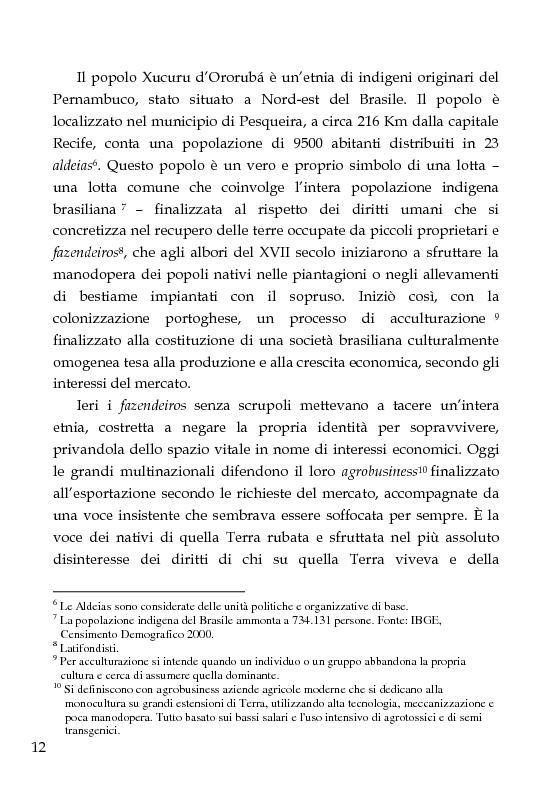 Anteprima della tesi: Una scuola per formare i ''guerrieri Xucuru''. Studio di un progetto di cooperazione in Brasile., Pagina 2
