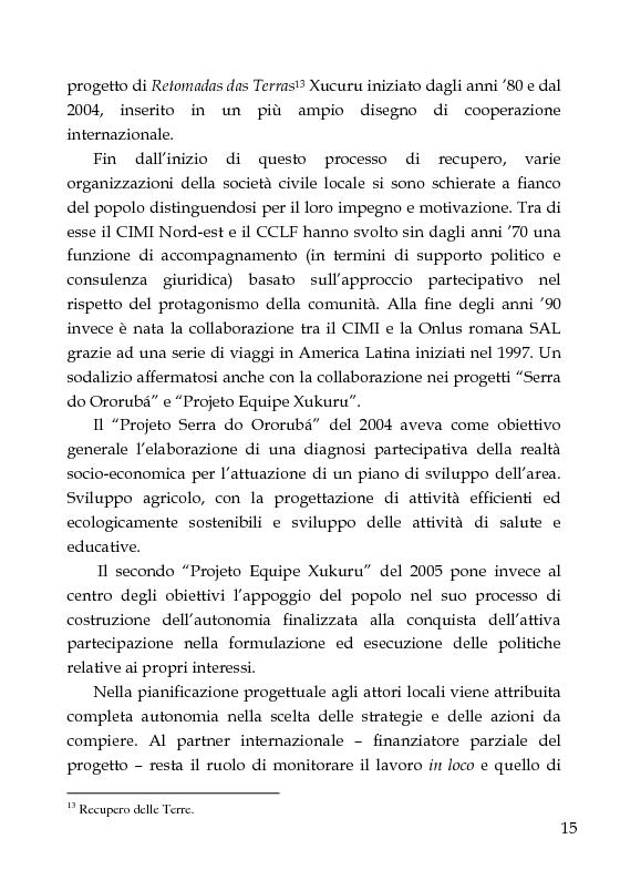 Anteprima della tesi: Una scuola per formare i ''guerrieri Xucuru''. Studio di un progetto di cooperazione in Brasile., Pagina 5