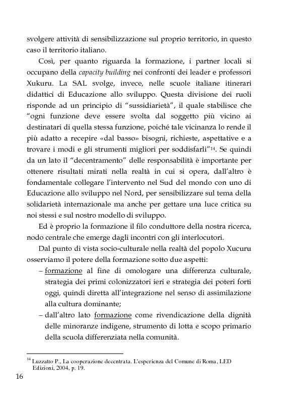 Anteprima della tesi: Una scuola per formare i ''guerrieri Xucuru''. Studio di un progetto di cooperazione in Brasile., Pagina 6