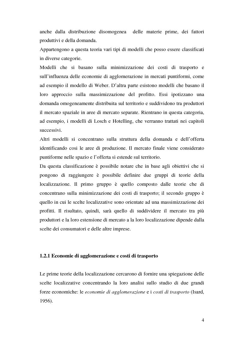 Anteprima della tesi: La teoria della localizzazione e gli investimenti diretti esteri in Italia, Pagina 4