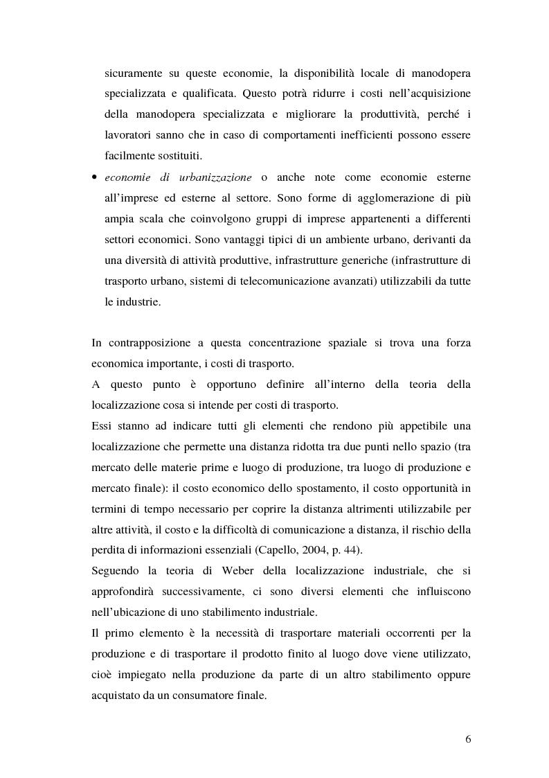 Anteprima della tesi: La teoria della localizzazione e gli investimenti diretti esteri in Italia, Pagina 6