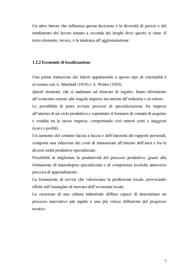 Anteprima della tesi: La teoria della localizzazione e gli investimenti diretti esteri in Italia, Pagina 7