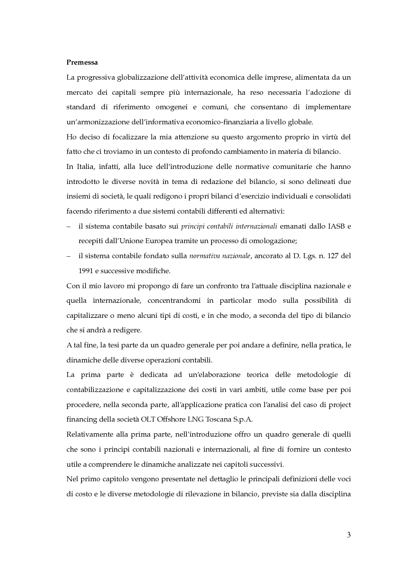 Anteprima della tesi: La capitalizzazione dei costi secondo i principi contabili nazionali e internazionali. Il caso: OLT Offshore LNG Toscana S.p.A., Pagina 1