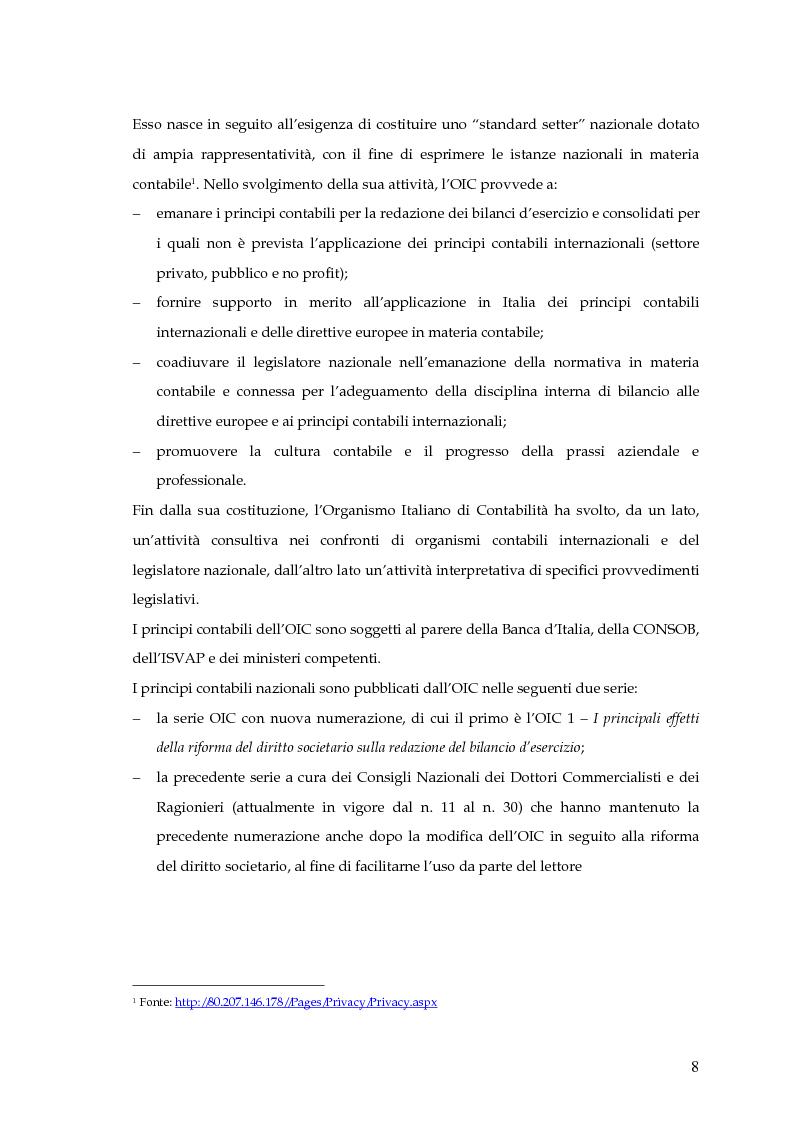 Anteprima della tesi: La capitalizzazione dei costi secondo i principi contabili nazionali e internazionali. Il caso: OLT Offshore LNG Toscana S.p.A., Pagina 6