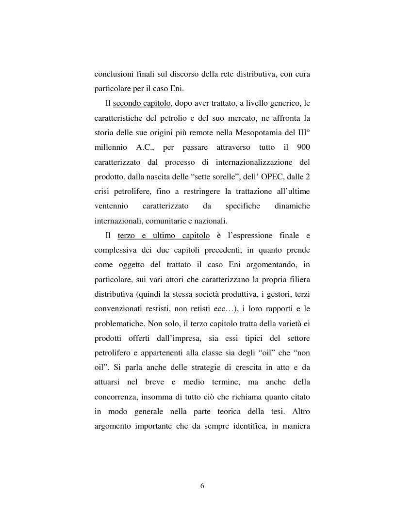 Anteprima della tesi: Problematiche nella politica distributiva delle imprese: il caso ENI, Pagina 3