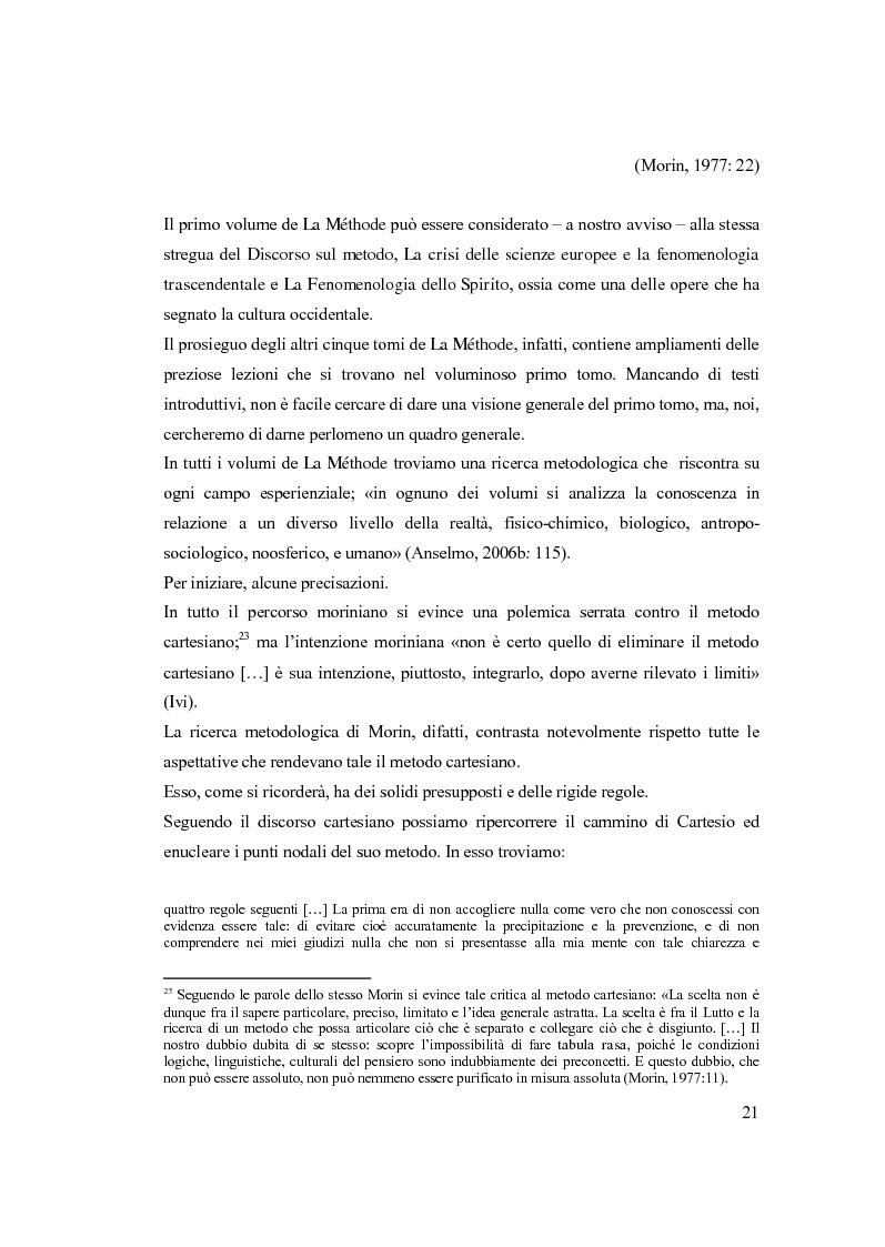 Anteprima della tesi: Semplicemente complesso. Sul metodo di Edgar Morin, Pagina 11