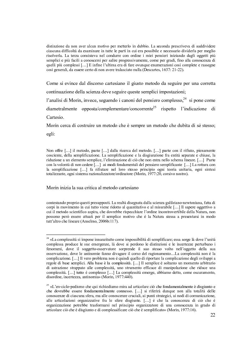 Anteprima della tesi: Semplicemente complesso. Sul metodo di Edgar Morin, Pagina 12