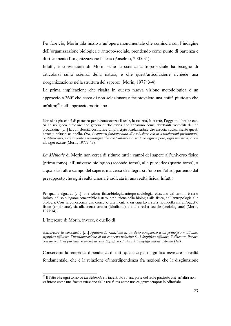 Anteprima della tesi: Semplicemente complesso. Sul metodo di Edgar Morin, Pagina 13