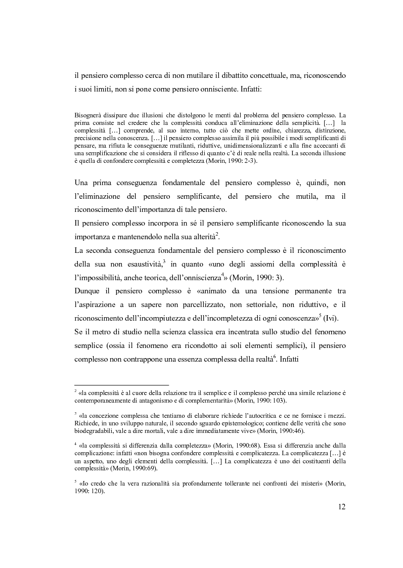 Anteprima della tesi: Semplicemente complesso. Sul metodo di Edgar Morin, Pagina 2