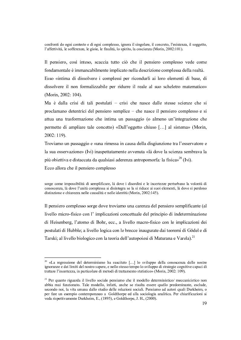Anteprima della tesi: Semplicemente complesso. Sul metodo di Edgar Morin, Pagina 9