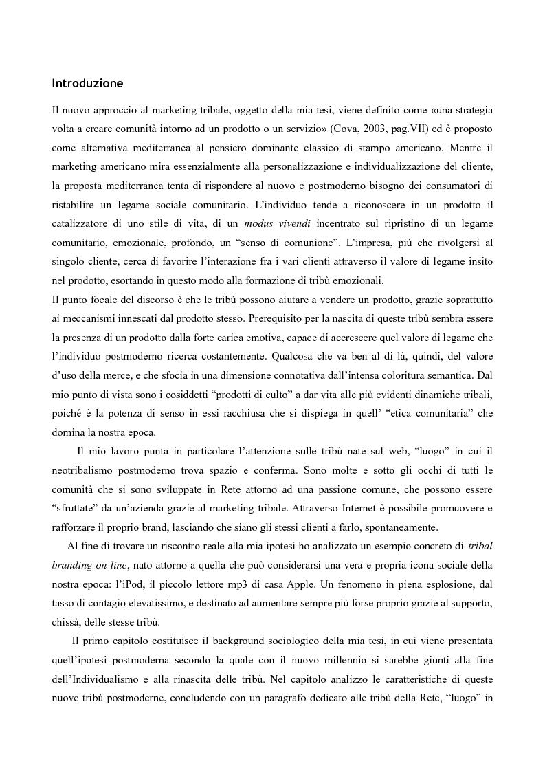 Anteprima della tesi: Il neotribalismo dell'iPod, Pagina 1