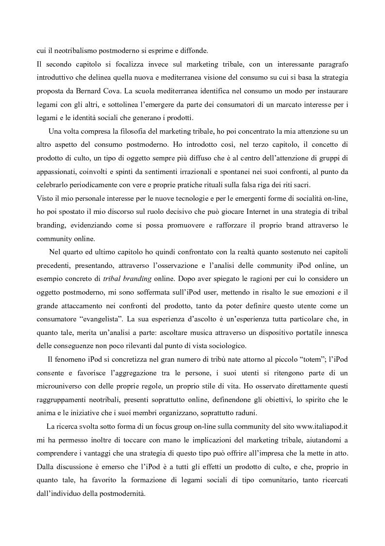 Anteprima della tesi: Il neotribalismo dell'iPod, Pagina 2