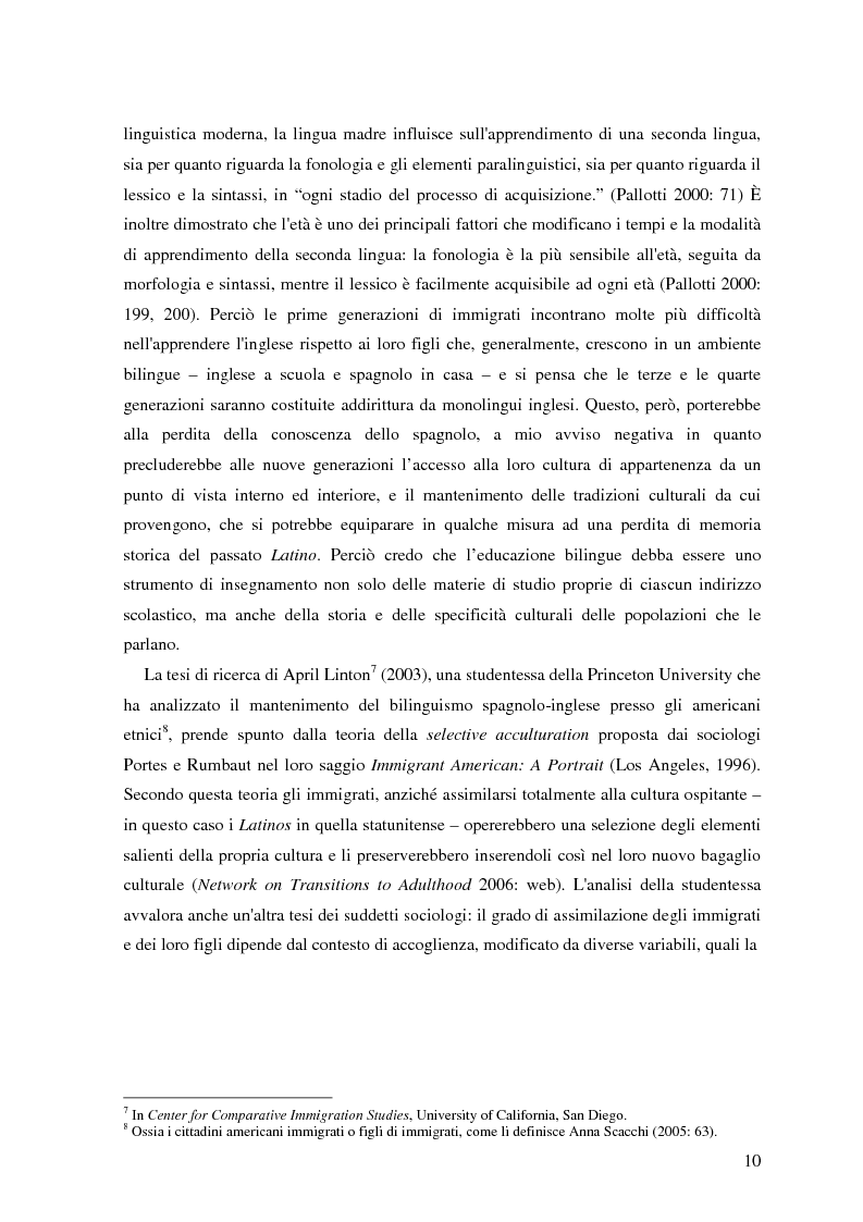 Anteprima della tesi: Commutazione e commistione di codice nel racconto Blow-up di Giannina Braschi, Pagina 12