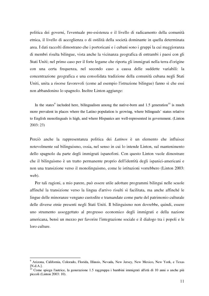 Anteprima della tesi: Commutazione e commistione di codice nel racconto Blow-up di Giannina Braschi, Pagina 13